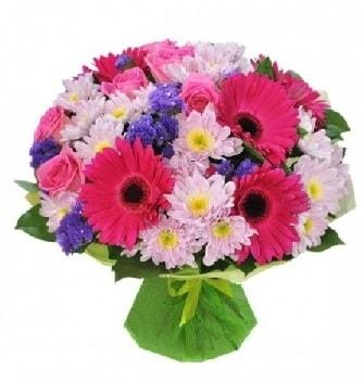 Karışık mevsim buketi mevsimsel buket  Afyon çiçek satışı