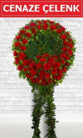 Kırmızı Çelenk Cenaze çiçeği  Afyon İnternetten çiçek siparişi