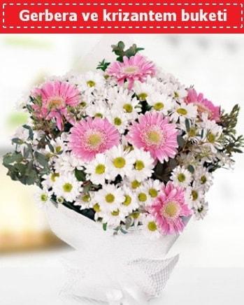 Papatya ve Gerbera Buketi  Afyon çiçek , çiçekçi , çiçekçilik
