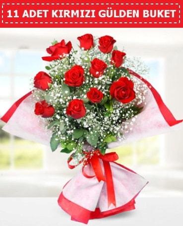 11 Adet Kırmızı Gül Buketi  Afyon internetten çiçek siparişi