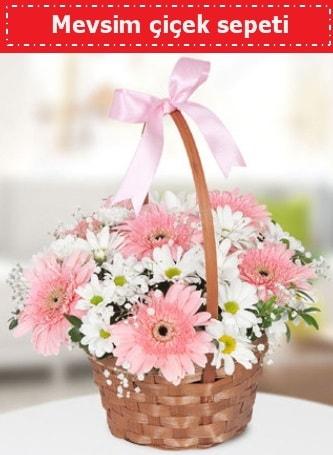 Mevsim kır çiçek sepeti  Afyon çiçek , çiçekçi , çiçekçilik
