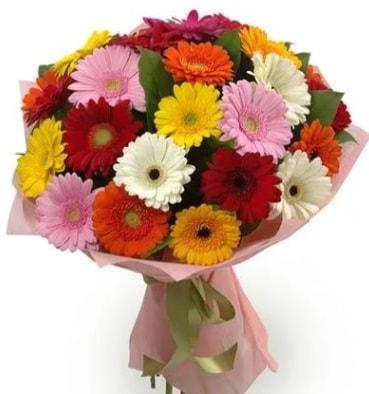 Karışık büyük boy gerbera çiçek buketi  Afyon çiçek satışı